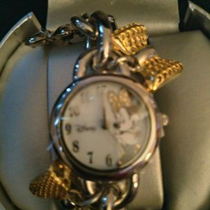Disney Minnie Mouse Watch Silver Mickey Dial
